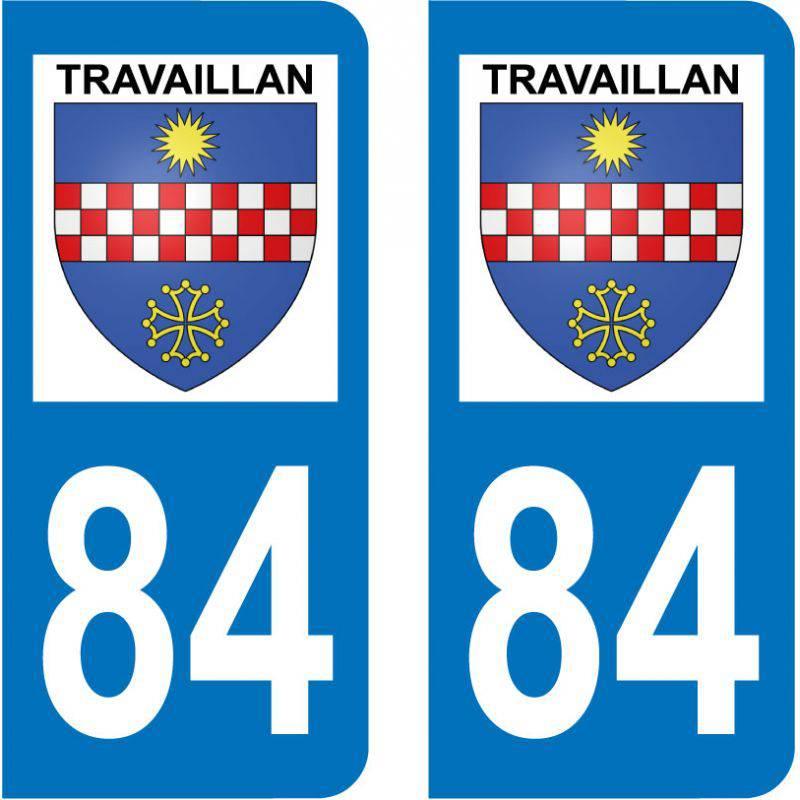 Sticker Plaque Travaillan 84850