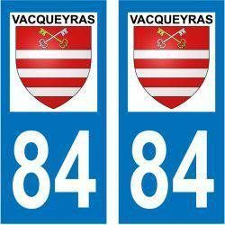 Sticker Plaque Vacqueyras 84190