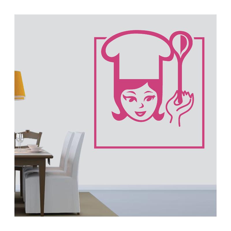 Sticker Mural Cuisine Chef Cuisinier - 6