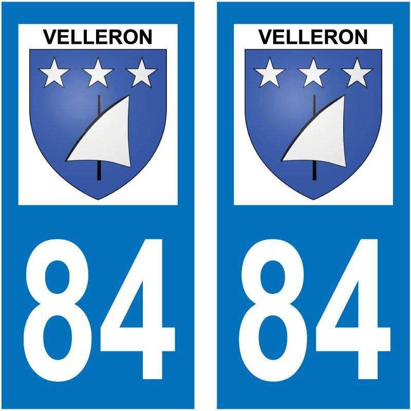 Sticker Plaque Velleron 84740