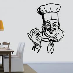 Sticker Mural Cuisinier