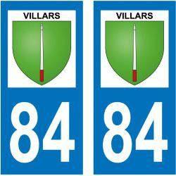 Sticker Plaque Villars 84400
