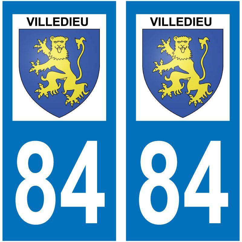 Sticker Plaque Villedieu 84110