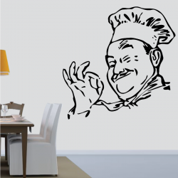 Sticker Mural Chef Cuisinier - 2