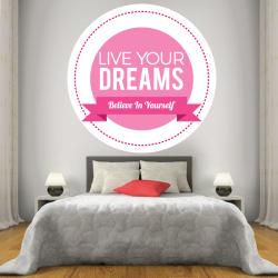 Sticker Mural Live Your Dreams