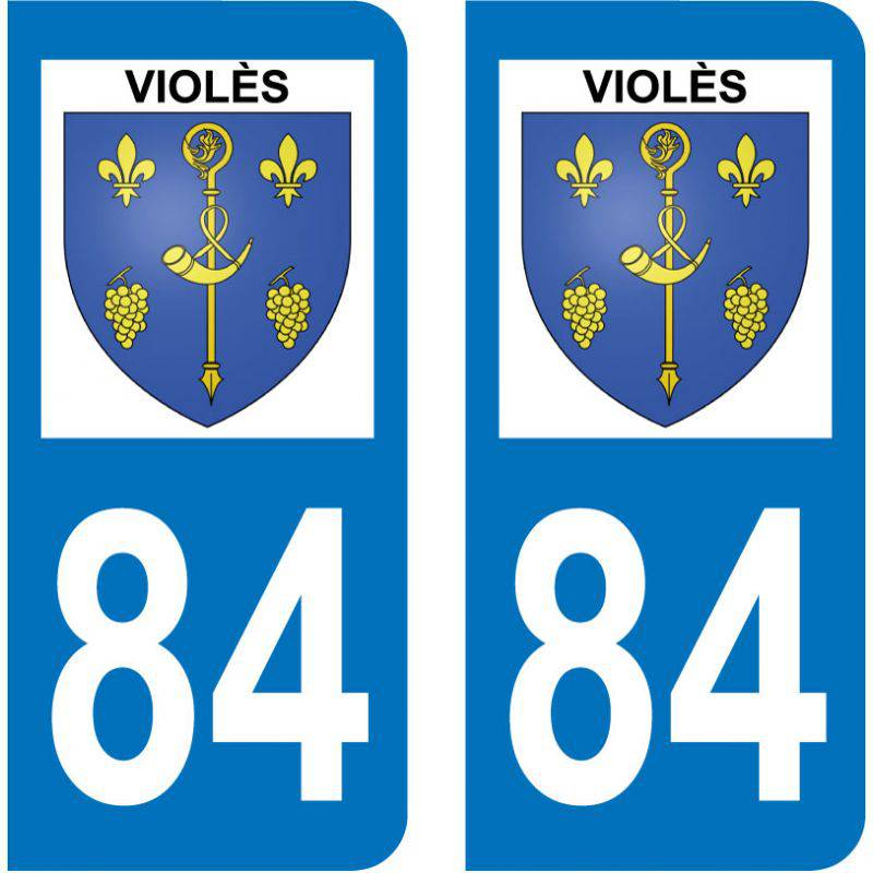 Sticker Plaque Violès 84150