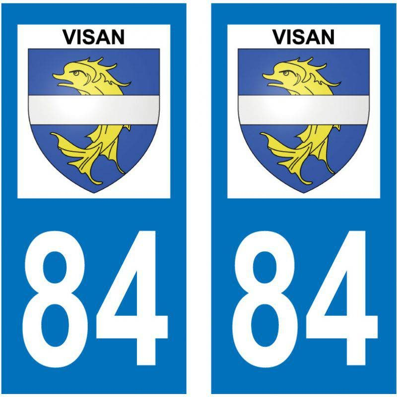 Sticker Plaque Visan 84820