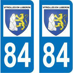 Sticker Plaque Vitrolles-en-Luberon 84240