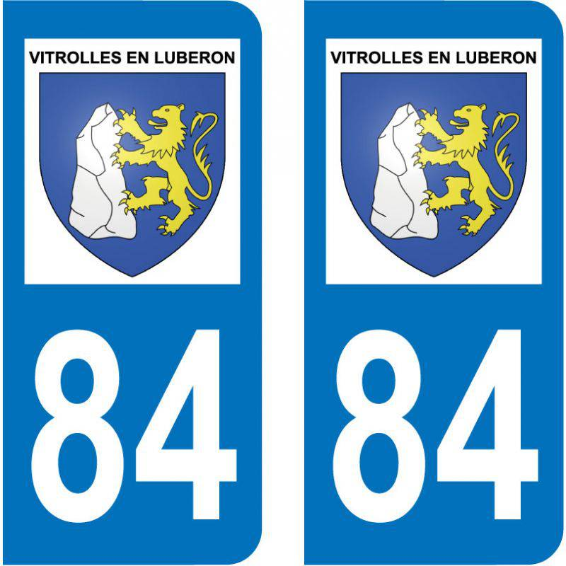 Sticker Plaque Vitrolles-en-Luberon 84240