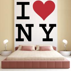Sticker Mural I love New York