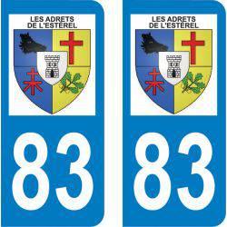 Autocollant Plaque Les Adrets-de-l'Estérel 83600