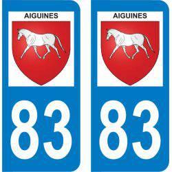 Autocollant Plaque Aiguines 83630