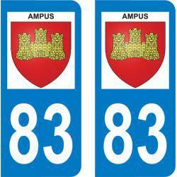 Autocollant Plaque Ampus 83111
