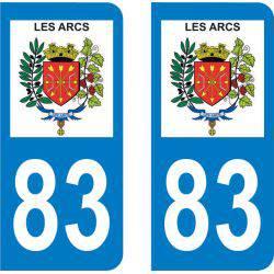 Autocollant Plaque Les Arcs 83460