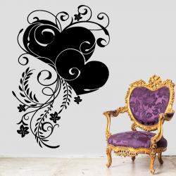 Sticker Mural Coeur Fleur