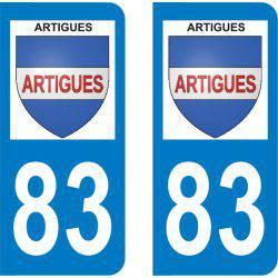 Autocollant Plaque Artigues 83560
