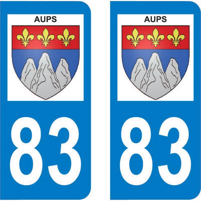 Autocollant Plaque Aups 83630
