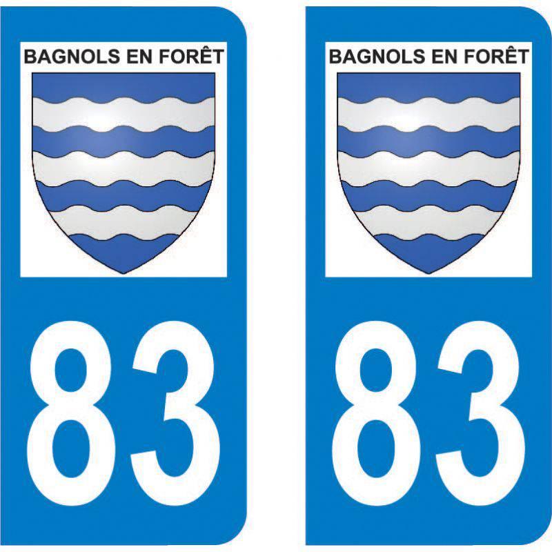 Autocollant Plaque Bagnols-en-Forêt 83600