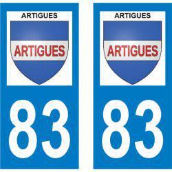 Sticker Plaque Artigues 83560