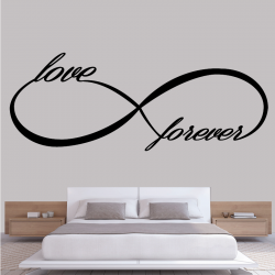 Sticker Mural Infinity love...