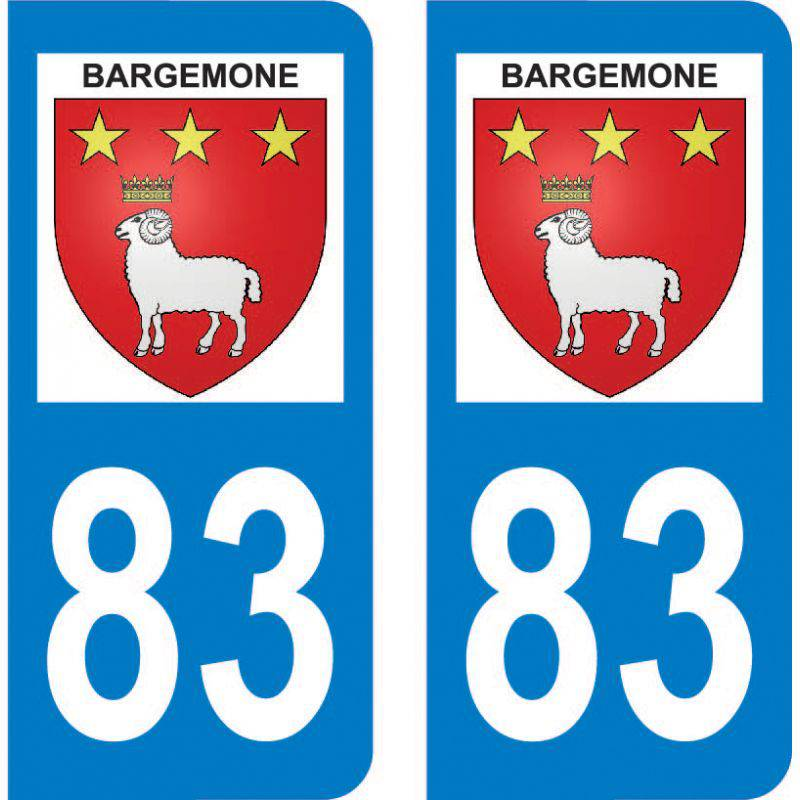 Autocollant Plaque Bargemon 83830