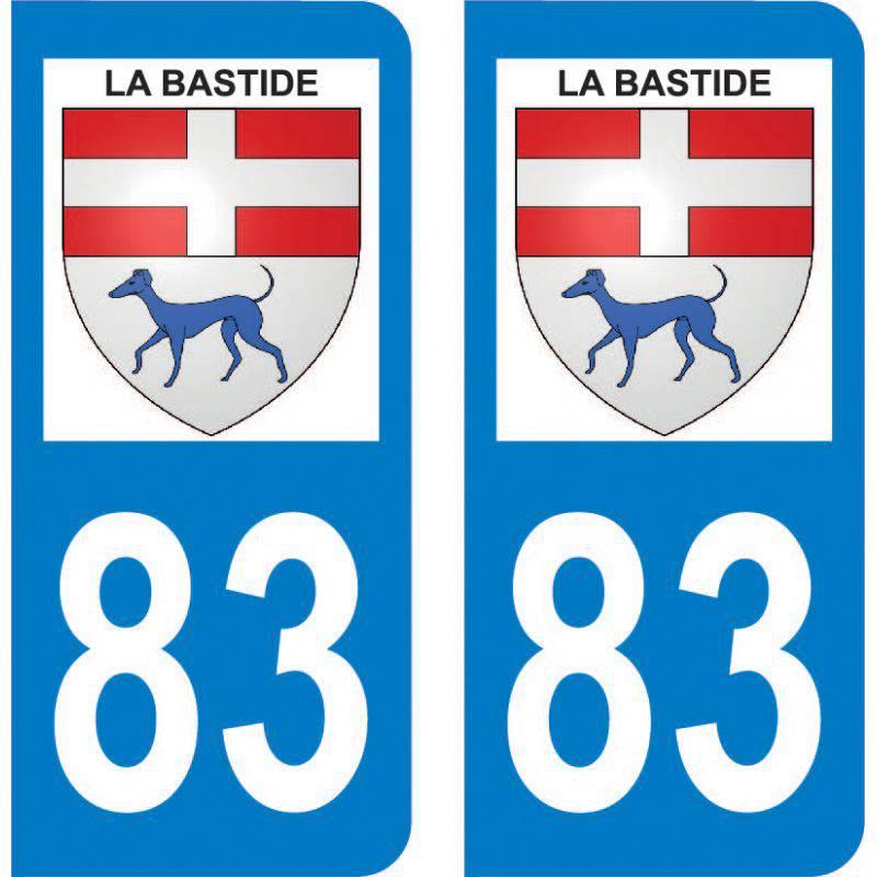 Autocollant Plaque La Bastide 83840
