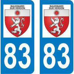 Autocollant Plaque Baudinard-sur-Verdon 83630