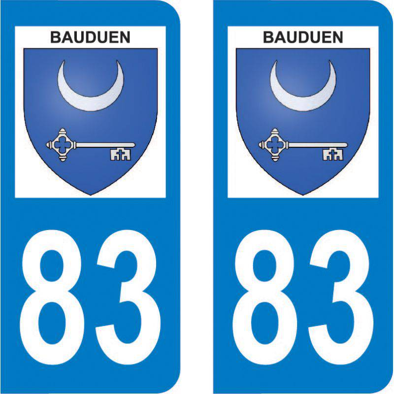 Autocollant Plaque Bauduen 83630