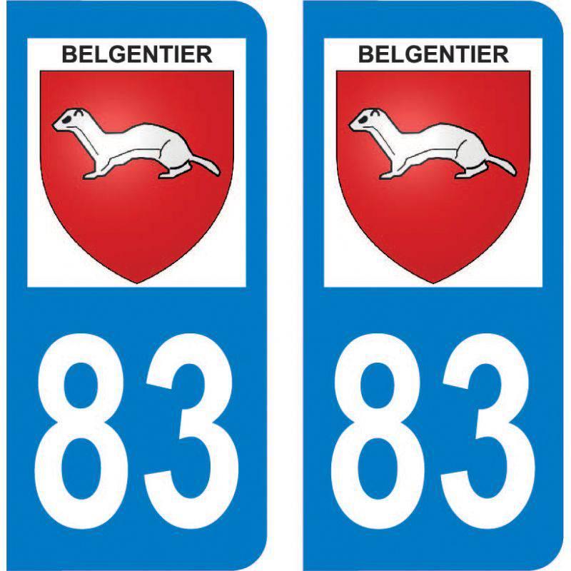 Autocollant Plaque Belgentier 83210