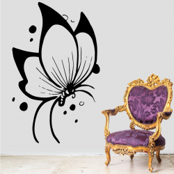Sticker Mural Papillon Chambre