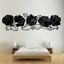 Sticker Mural Ornement Rose