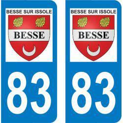 Autocollant Plaque Besse-sur-Issole 83890