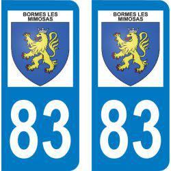 Autocollant Plaque Bormes-les-Mimosas 83230