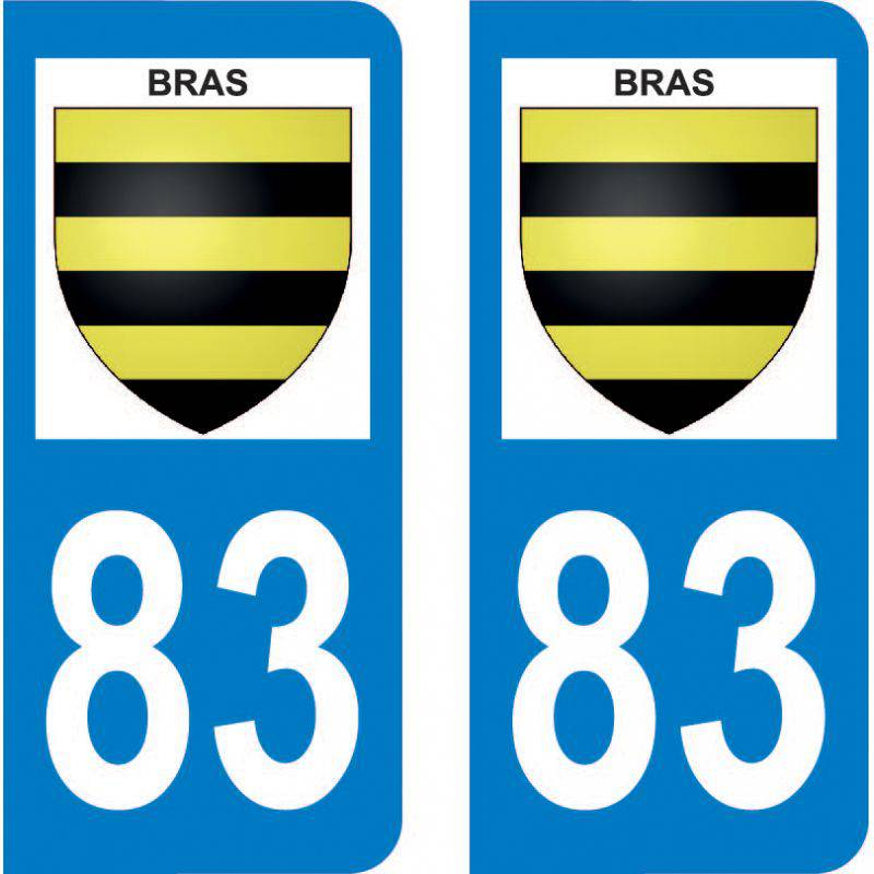 Autocollant Plaque Bras 83149