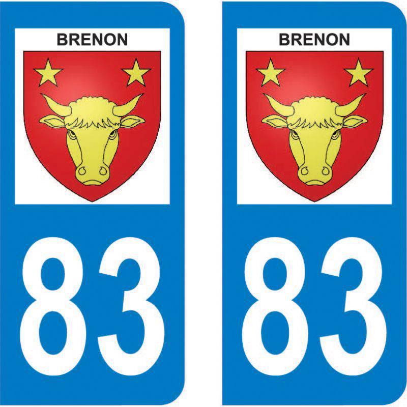 Autocollant Plaque Brenon 83840