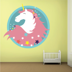 Sticker Mural Licorne