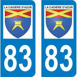 Autocollant Plaque La Cadière-d'Azur 83740