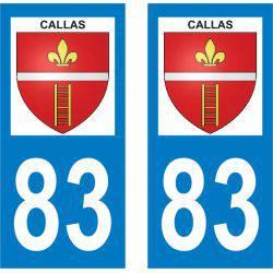 Autocollant Plaque Callas 83830