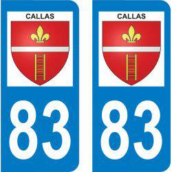 Sticker Plaque Callas 83830
