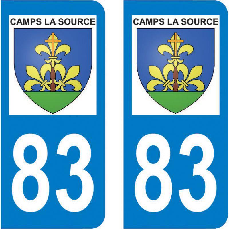 Autocollant Plaque Camps-la-Source 83170