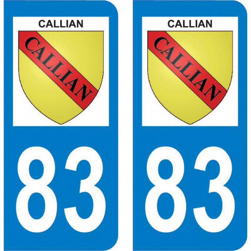 Sticker Plaque Callian 83440