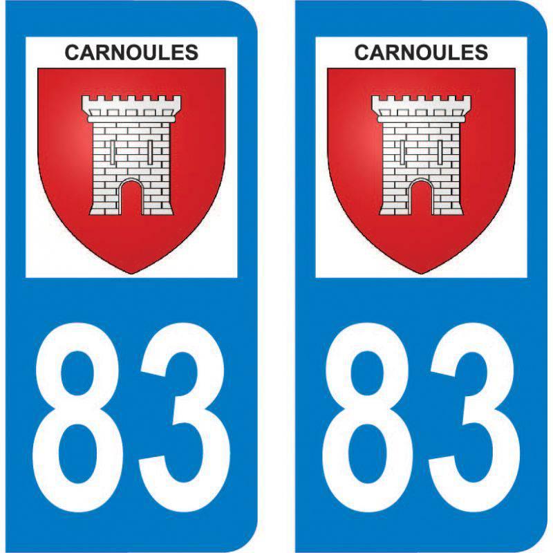 Autocollant Plaque Carnoules 83660