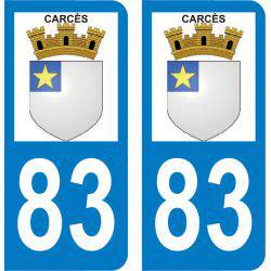Sticker Plaque Carcès 83570