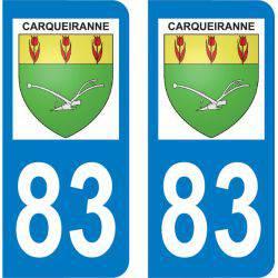 Autocollant Plaque Carqueiranne 83320