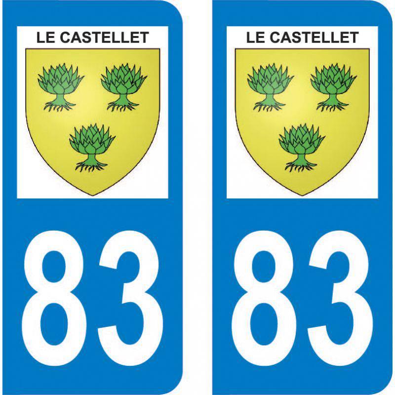 Autocollant Plaque Le Castellet 83330