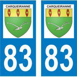 Sticker Plaque Carqueiranne 83320
