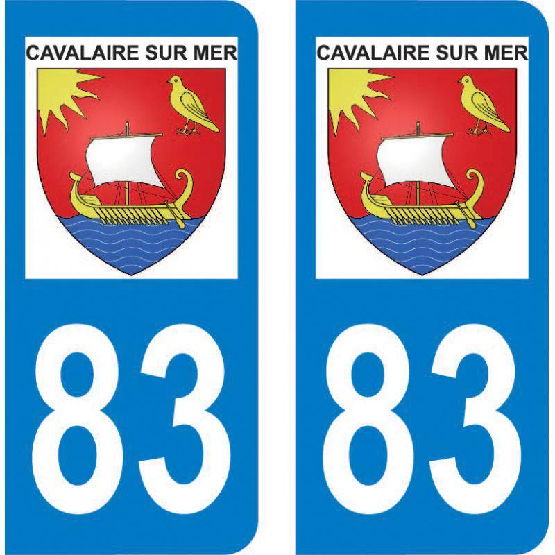 Autocollant Plaque Cavalaire-sur-Mer 83240