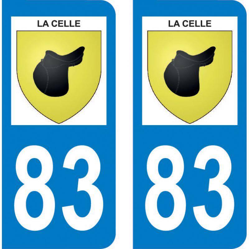 Autocollant Plaque La Celle 83170