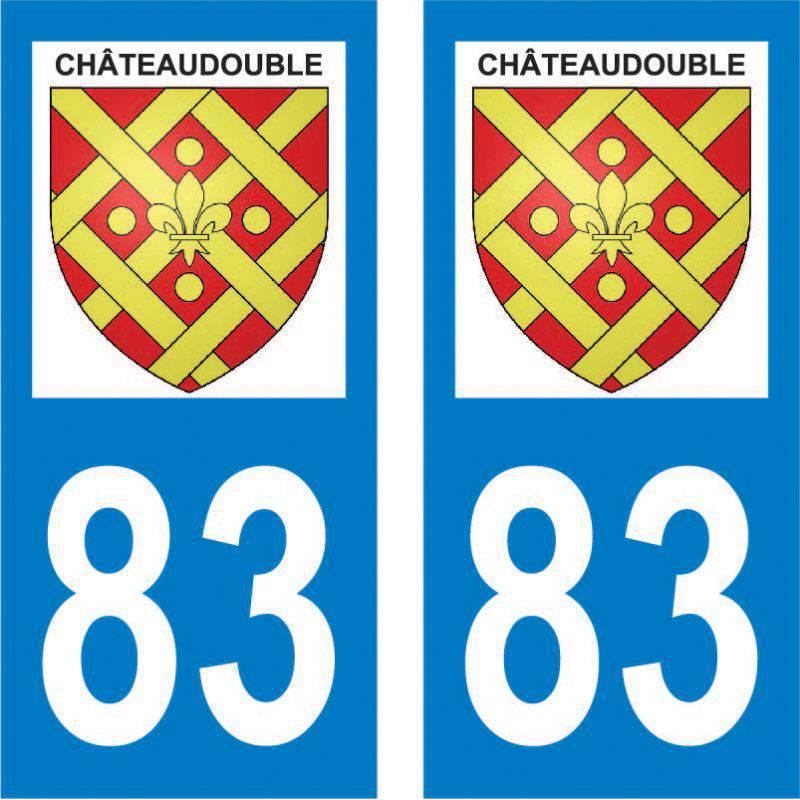 Autocollant Plaque Châteaudouble 83300