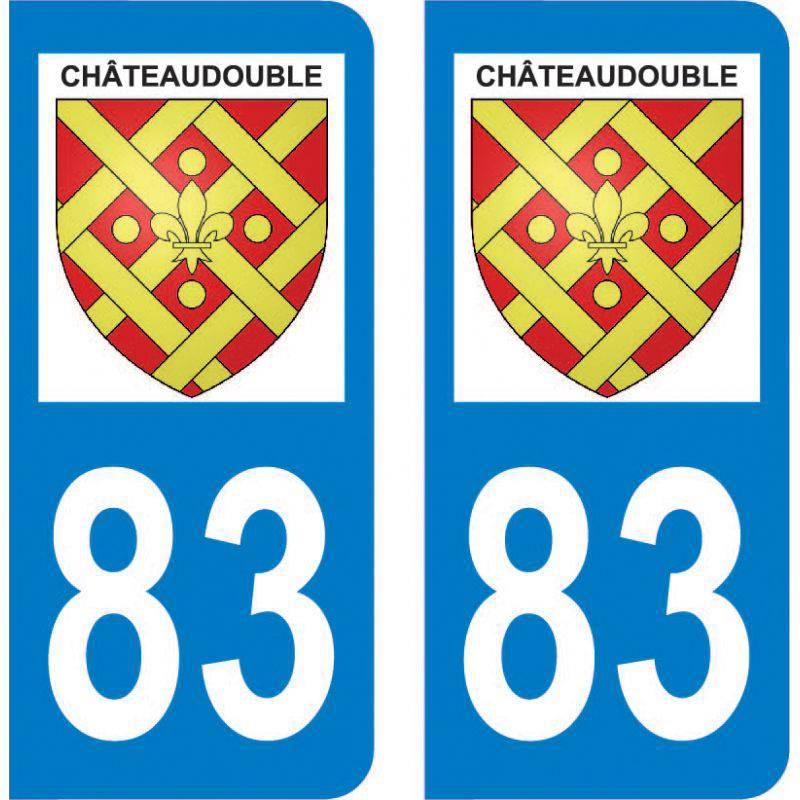 Sticker Plaque Châteaudouble 83300
